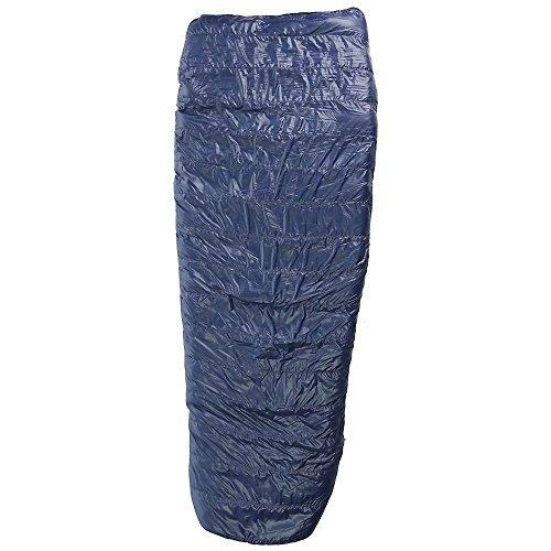 Western Mountaineering Ponderosa MF Sleeping Bag: 15 Degree Down Navy Blue, 6ft 6in