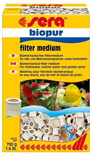 sera 08420 biopur 750 g ein biomechanisches Filtermedium für Sauerstoff liebenden schleimbildenden Bakterien