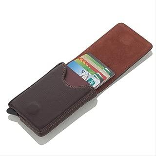 Tarjeteros De Aluminio Card Wallet Pop-Up Automático Con Bolsillo De Licra