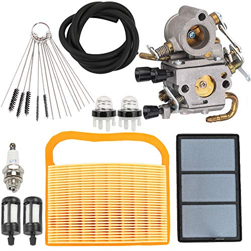 Hayskill TS420 TS410 Carburetor for Stihl TS410Z TS420Z Concrete Cut-Off Saw Zama C1Q-S118 Carb 4238 120 0600 with Tune Up Kit 4238 140 4401 Air Filter Fuel Line Spark Plug