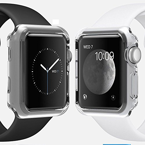 Apple Watch 42mm Series 1 Case, Crystal Clear Ultra Thin Waterproof Soft TPU Cover Case for Apple Watch 42mm Series 1 (Crystal Clear)