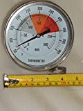 5' BBQ Pit Smoker Grill Thermometer Temperature Gauge Barbecue Gas Wood Charcoal