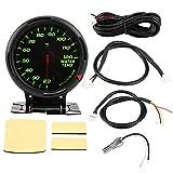 SANON Plastica Nera 12V 64 Colori Retroilluminazione a Led Indicatore Della Temperatura Dell'acqua 20-120 ? con Sensore Npt1 / 8 per Auto Racer