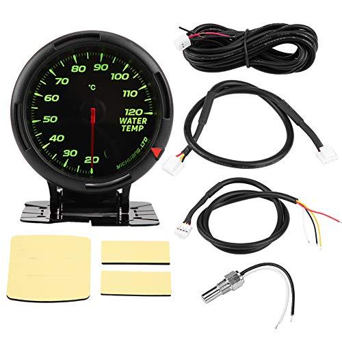Keenso 12V 64 Farbe Wassertemperaturanzeige Kit 20-120 ℃ Wasserthermometer mit Sensor NPT1 / 8 für Auto Car Racer Truck