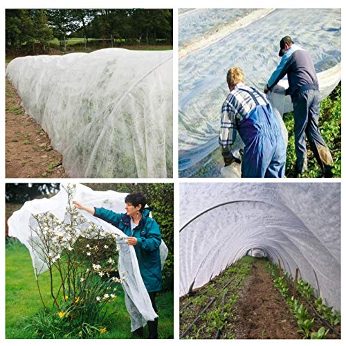 CTREAE Plant Covers Freeze Protection 0.9oz 8Ft x 24Ft Floating Row Cover Rectangle Plant Cover for Cold Protection, Sun, Pest Protection, and Plant Growth Season