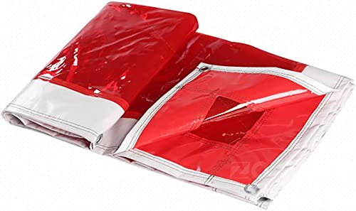 Bache PVC Polyvalente, Claire Imperméable Couverture De Prougeection De Remorque De Tente De Sol Rouge (500g   M2) (Taille   6x8m)