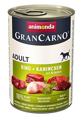 Animonda Gran Carno - Cibo per Cani, coniglio + erbe, 6 x 400 g
