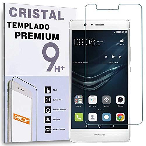 REY Protector de Pantalla para Huawei P9, Cristal Vidrio Templado Premium