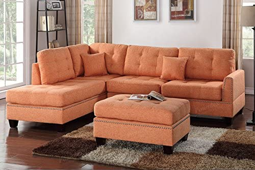 Best Poundex PDEX- Upholstered Sofas/Sectionals/Armchairs, Citrus