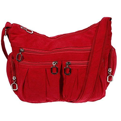 Christian Wippermann, Borsa a spalla donna rosso Rot 31x24x11 cm