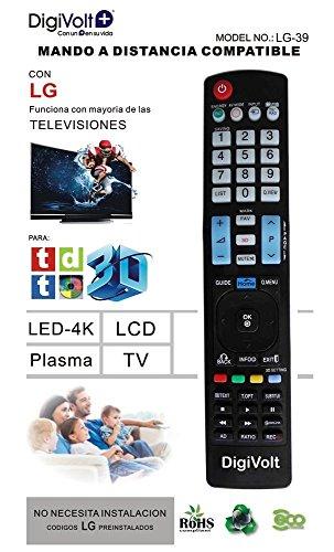 JPWOnline - Mando a distancia compatible con LG Digivolt LG-39