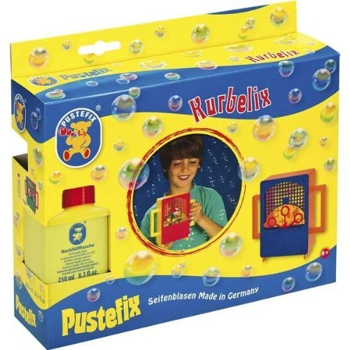 Pustefix 420869620 - KURBELIX Seifenblasen-Maschine 1/4l