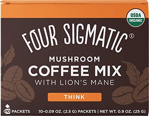 Four Sigmatic Organic Mushroom Coffee with Lion's Mane & Chaga 10 Sachets