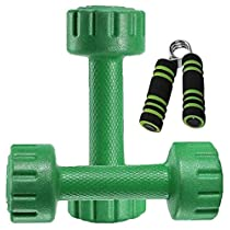 Aurion PVC Coated Dumbbells Weights Fitness Home Gym Exercise Barbell (Pack of 2) Light Heavy Ladies Mens Dumbbells