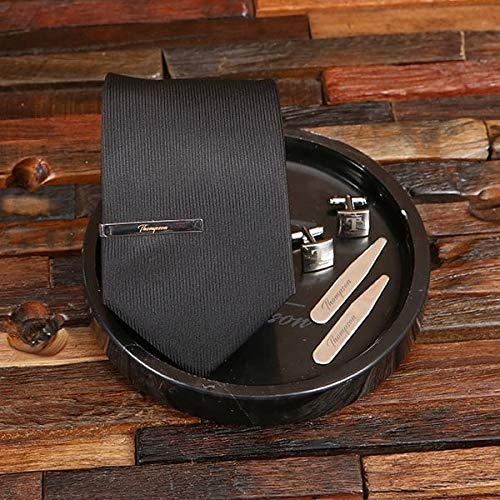 Dark and Smooth Valet Spasm price Tray Set A Tie Custom In a popularity Matching - Men's
