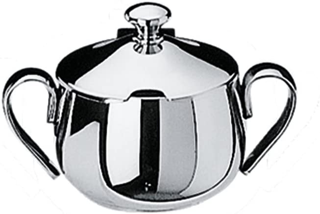 Mepra Bombata 20CL. Sugar Bowl with Lid – Finish low-pricing Silver Ser San Diego Mall