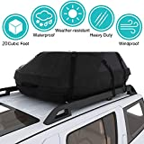 Moroly Car Top Carrier Waterproof Rooftop Cargo Carrier Bag Includes Heavy Duty Straps for Vehicle Car Truck SUV Vans,Travel Cargo Bag Box Storage Luggage (20 Cubic FEET- Waterproof)