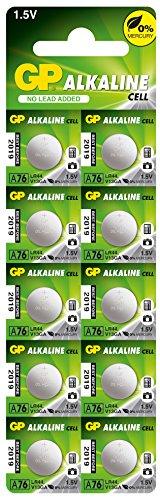 GP A76F-2C10 Alkaline Batterie AG13/LR44 (1.5V, 10er Pack) Blister