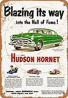 8 x 12 cm メタル サイン - 1951 ハドソン ホーネット メタルプレートブリキ 看板 2枚セットアンティークレトロ