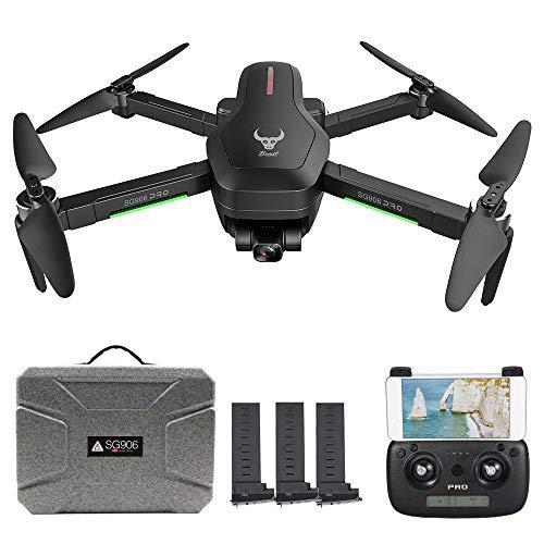 Goolsky SG906 PRO GPS RC Drone con Fotocamera 4K 5G WiFi a 2 Assi Gimbal 25mins Tempo di Volo Brushless Quadcopter Seguimi MV Foto Gesto con Borsa Portatile