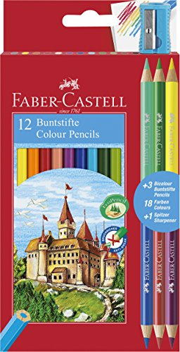 Faber-Castell 110312 Matita Colorata, 12 Pezzi