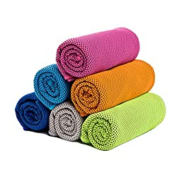 in budget affordable However [6 Pack] Cooling towels, winter sports towels, cooling towels for immediate cooling, yoga, travel, etc.