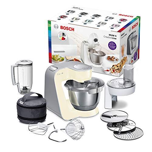 Bosch Electroménager MUM58920 Kitchen Machine, 1000 W, 3.9 liters, Vanille/Argent
