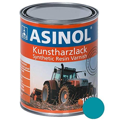 ASINOL MENGELE BLAU 1.000 ml Kunstharzlack Farbe Lack 1l Liter Dose