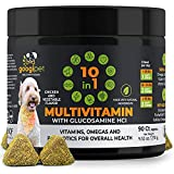 Googipet 10 in 1 Dog Multivitamin with Glucosamine & PurforMSM for dog hip and joint support - Essential Dog Vitamins w/ Chondroitin, Probiotics & Omega Fish Oil -One dog supplement for overall health