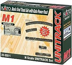 Kato USA Model Train Products M1 UNITRACK Basic Oval with Kato Power Pack