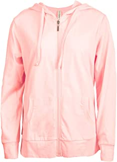 Women's Zip Up Cotton Light Hoodie Jacket