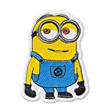 Despicable Me Minion Smirking Mark Embroidered Patch Iron On (3' × 4.2')