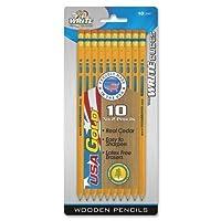 Wholesale CASE of 25–Board Dudes # 2Presharpened USAゴールド、NO 2penicls-pre-sharpened鉛筆HB、10/ PK、ゴールド