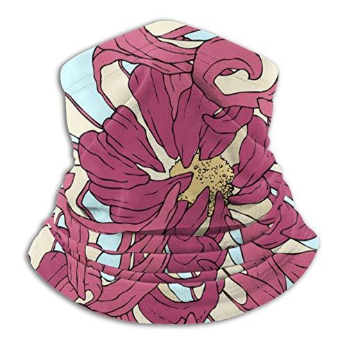 Towel&bag Floral Anime - Bufanda multifuncional de microfibra para cuello, color negro