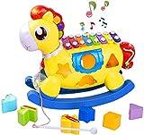 STOTOY Baby Xylophon Spielzeug , 5 in 1 Einstein Babyspielzeug 12-18 Monate,Kinderspielzeug mit...