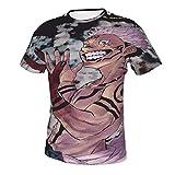 Jujutsu-Kaisen Su-kuna - Camiseta de manga corta con estampado 3D y cuello redondo para hombre