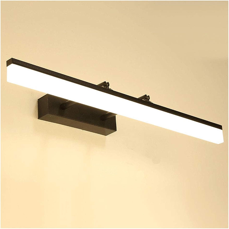 Spiegelleuchten Nordic Mirror Scheinwerfer, Schwarzer Spiegel Kabinett Lampe Aluminium Einziehbare LED Spiegel Scheinwerfer Badezimmer Spiegelschrank (Farbe   Warmes licht-40 cm)
