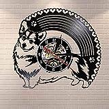 Horloge Murale Cardigan Corgi Led Le Disque Vinyle Horloge Murale Décoration De La Maison Art...