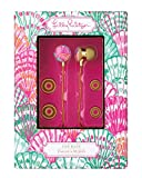 Lilly Pulitzer Ear Buds with Volume Control in Oh Shello
