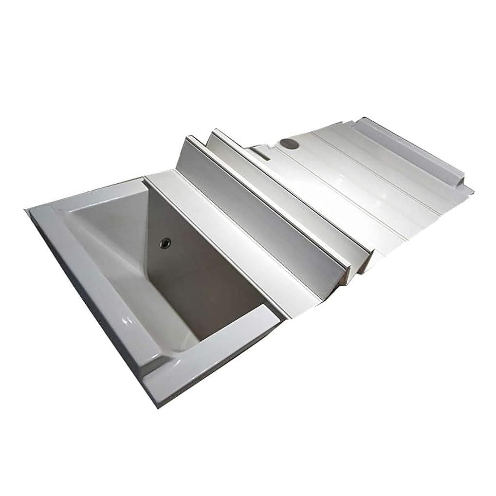 なめらかなリズミカルな略奪風呂ふた 折りたたみ風呂ふた半身浴 ほとんどの浴槽に適した浴槽トレイ折り畳み式浴槽カバー、防水PVCボード絶縁ダストカバー浴槽ストレージ支持フレーム、 (Size : 105×70×1.2cm)