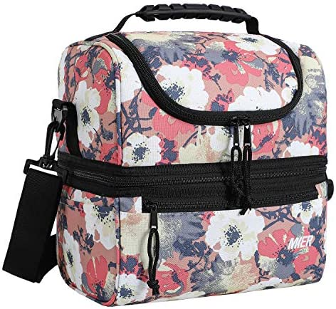 MIER Adult Lunch Box Insulated Lunch Bag Large Cooler Tote Bag for Men Women Double Deck Cooler product image
