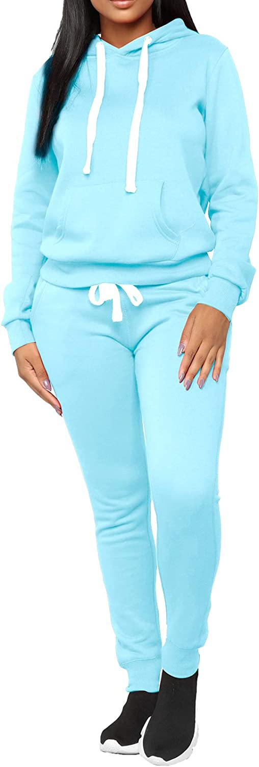 Women's Casual Two Piece Outfits - Sleeve Hoodie ハイクオリティ Long C Pullover 予約販売品