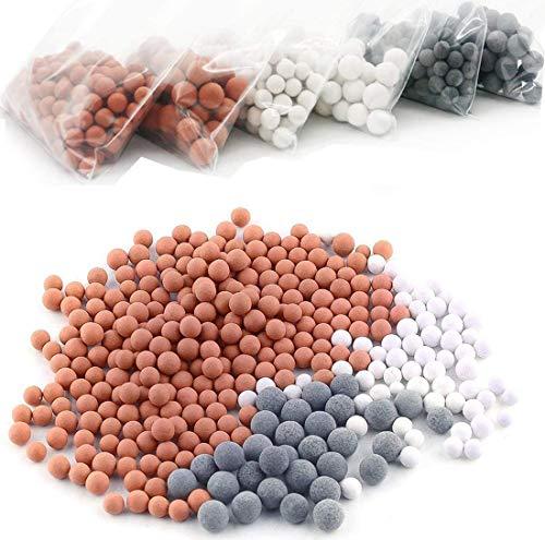 Filtros de ducha 6 packs, iones negativos de bolas de mineral - activo filtro iónico cabezal de ducha, purifica el agua de la ducha que rejuvenece la piel y el cabello