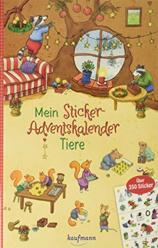 Mein Sticker-Adventskalender: Tiere - Über 350 Sticker + Stickerheft-Adventskalender (Mein Stickerbuch)