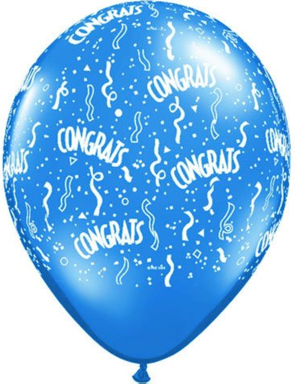 11 Inch Congratulations All-Around Print Latex Balloons - Assortment