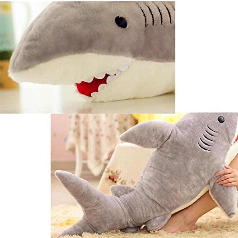 Baby Kids Shark Shaped Plush Doll Animal Bolster Pillow Gift