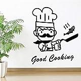 wZUN Estilo de Dibujos Animados Buena Cocina decoración del hogar Papel Tapiz decoración de la habitación de la Cocina Pegatinas de Pared calcomanías de Arte de Pared 28X34cm