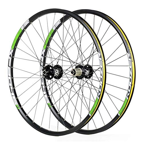 VTDOUQ Ruedas de Bicicleta para 26 27,5 Ruedas de Bicicleta de montaña de 29 Pulgadas, Freno de Disco de Aluminio de Cambio rápido de Doble Pared, Compatible con 8 a 11 velocidades