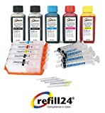 Cartuchos Recargables,Compatible para Canon PGI-570 CLI-571 + 500 ML Tinta