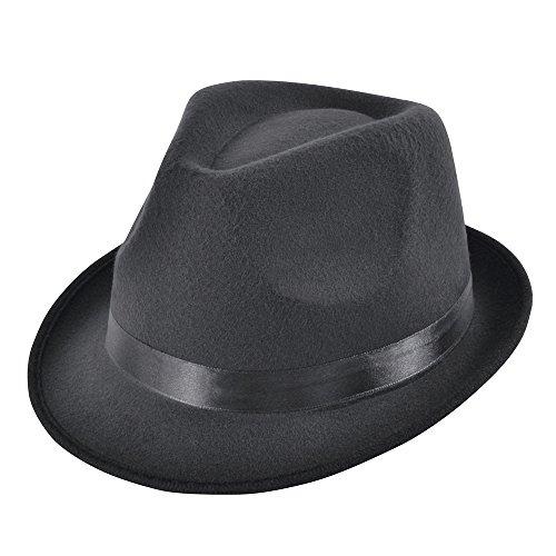 Bristol Novelty Bh607 Blues Style Deluxe Chapeau, Noir, taille unique